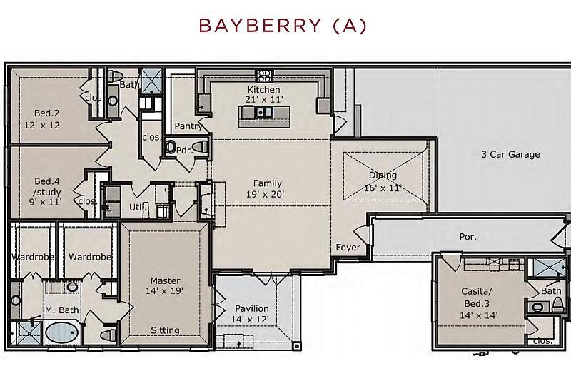 Bayberry Floor Plan Caldwell Homes
