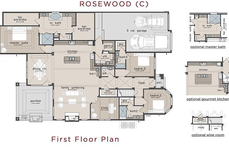 Rosewood Floor Plan Caldwell Homes